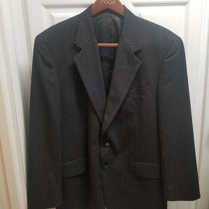 Alfani Black Pinstripe Sport Coat EUC